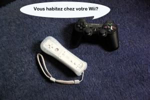 Un couple de manettes mixte? (manette de Wii à gauche et de PlayStation 3 à droite)
