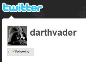 Le Twitter de Darth Vader