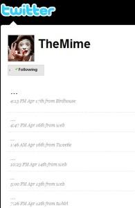 Le Mime, sur Twitter