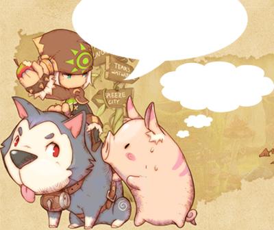 """Dragonica: voleur et cochon """"C'est non!"""""""
