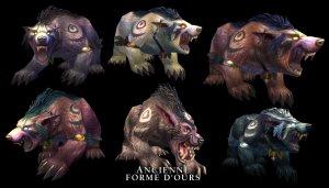 Nouvelles skins d'ours pour druide elfe de la nuit